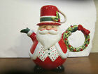 Fitz & Floyd Snack Therapy Santa 4 Cup Tea For One Cocoa Pot