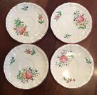 4 KG Luneville Old Strasbourg Tulip China  Saucers Made in France
