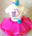 Abby Cadabby Pink Fairy Girl 3rd Third Birthday Tutu Outfit Set Shirt Party