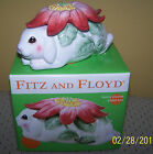 Fitz and Floyd Bunny Blooms Lidded Box, 2002, NEW Easter/Spring Decor Adorable!!