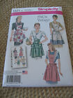 SIMPLICITY 1221 VINTAGE '40'S STYLE FULL HALF APRONS SEWING PATTERN S-M-L 10-20