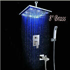 Bathroom Ceiling Rainfall Shower Faucet Set Mixer Tap Valve&Hand Shower 2021