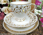 ANTIQUE TEA CUP AND SAUCER 1880'S  GOLD GILT PATTERN TEACUP WITH PLATE