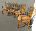 Four Designer FRENCH COUNTRY COTTAGE Carved Rush ARM CHAIRS Made in SPAIN
