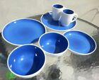 Set of Hausenware Blue -  2-Dinner Plates, 1-Salad Plate, 2-Bowls, 2-Coffee Cups