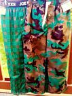 NWT JOE BOXER BOYS SET 2 FLANNEL SLEEP PANTS PAJAMAS SIZE 4 5 CAMO + GREEN PLAID
