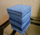 200 35 denim Upcycled BLUE JEAN squares RAG QUILT Fabric Block Scrap