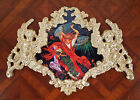 Russian folk art.Demon.Faux ormolu.Furniture mounts/decor.