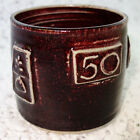 """50"" Medallion Art Studio Pottery Mug Cup signed numbered 31/50"