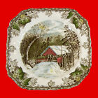 JOHNSON BROTHERS England The Friendly Village Square Plate VTG