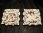 Pair of Old Foley James Kent Ashtray Trinket Dishes Floral Pattern 4