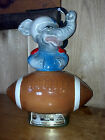 1972 Jim Beam Kentucky Whiskey Decanter with Elephant on Football