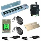 Door Entry System Inswing Mag Lock 600lbs Kit with Wireless Receiver and Remote
