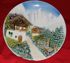 MADE IN WEST GERMANY MAJOLICA PLATE MODEL/SERIES 3831SX ALPINE SCENE