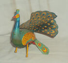 VINTAGE WIND-UP TINPLATE TOY PEACOCK BY ALPS  MADE IN JAPAN CIRCA 1960'S