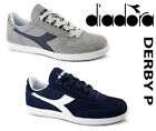NEW Diadora DERBY P 161298 C4743C2074 Sneakers LOW TOP SHOES GRAY OR NAVY