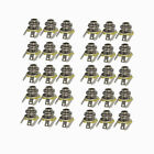 "Pack of 30pcs Guiar 1/4"" Jack Sockets Mono Jack Sockets for Electric Guiar Bass"