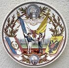Antique Franco Russian Porcelain Plate SARREGUEMINES old Russia Imperial navy
