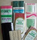 Vintage SEWING NOTIONS Lot of 7 Various Colors LACE SEAM TAPE BINDING New