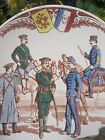 Antique Franco Russian Porcelain Plate SARREGUEMINES old Russia Imperial army