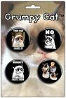 Grumpy Cat: 4-Piece Round Button Set