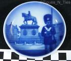 Royal Copenhagen Denmark Blue Design Guard Statue Mini Butter Pat Plate (FF)