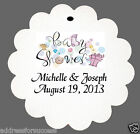 12 Personalized Baby Shower Favor Scalloped Tags Party Favors