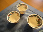 3 VINTAGE LENOX DECORATED EGG LINERS OR DEMITASSE INSERTS VERY RARE