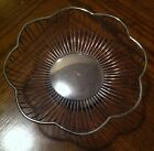 Vintage Silverplate Wire Bread Basket Fruit Bowl Scalloped Edge ~NICE~