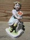 Vintage Scheibe-Alsbach (1962-1972) Figurine Girl Basket of Apples - Beautiful