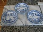 Williams Sonoma Brittany Farm Animals Luncheon Plates French Country Blue/White