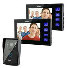 7 Inch Touch Screen Color Video Door Phone Bell CMOS Night Version Camera 1 to 2