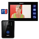 7LCD Video Door Phone Intercoms System 4G SD Card 1 Touch Key Camera 1 Monitor