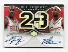 2006-07 Exquisite **MICHAEL JORDAN LEBRON JAMES** Number Pieces Patch Auto 23