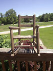 ANTIQUE ROPE/STRING BOTTOM SEAT CHILD'S ROCKING CHAIR ROCKER