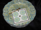 222 FIFTH LYRIA TEAL ROUND APPETIZER PLATES - Set of 8 - New