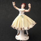 Vintage Martha Budich Dresden Germany Lace Porcelain Figurine Dancing Woman