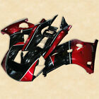 Red Black ABS Plastic Fairing Bodywork Set Kit For YAMAHA FZR250 2KR 86-88 87 2A
