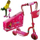 New 3 Wheel Kick Scooter w LED Light Up Wheels for Toddler Kids Ride on Toy PINK