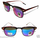 True Vintage Clubmaster Sunglasses Wayfarer Soho Color Mirror Lenses Brown Frame