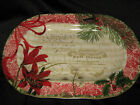 222 FIFTH HOLIDAY DECOUPAGE PLATTER  - NEW - RARE