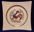 Hyalyn North Carolina Pottery Rooster Decorative Wall Plate MCM Vtg Gilding
