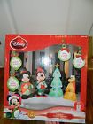 DISNEY Christmas Lightshow Airblown Inflatable Yard Decor Musical Remote 7.5'