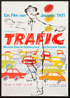 TRAFFIC TRAFIC 1971 unfolded 23x33 Jacques Tati poster Exc Cond filmartgallery