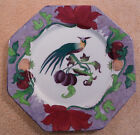 Antique John Tams Crown Pottery art deco exotic bird and fruit plate - FREE SHIP