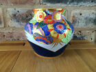 Exquisite & Rare Early 1930s Carlton Ware Blue Floral Comets Vase