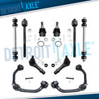10pc Front Control Arm Ball Joints Inner Outer Tie Rods for Ford Ranger 2WD