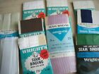 VINTAGE SEWING NOTIONS Lot of 10 Wright SEAM BINDING Various Colors New