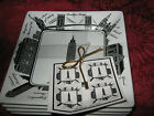 222 FIFTH CITY BLOCKS - NEW YORK - SQUARE APPETIZER PLATES - SET OF 8 - NEW
