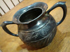 Antique Derby Silver Co Quadruple Plate Silverplate Pitcher Marked C 43 Age???